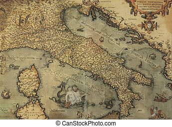 carte antique, italie