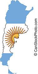 carte, argentina signalent