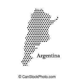 carte, argentine, point