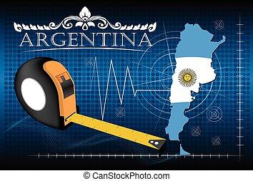 carte, argentine, vector., règle