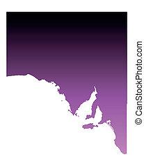 carte, australie, sud
