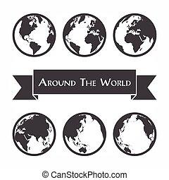 carte, autour de, ), (, contour monde