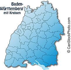 carte, baden-wuerttemberg