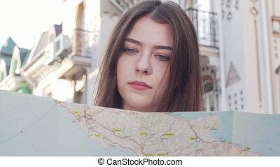 carte, beau, ville, utilisation, autour de, coup, tondu,...