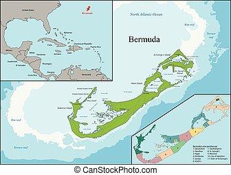 carte, bermudes