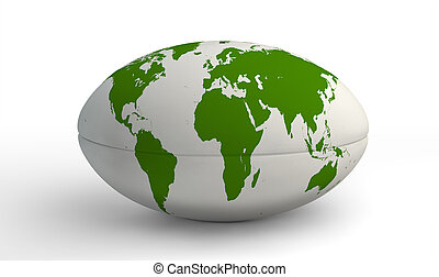 carte, boule blanche, rugby, mondiale