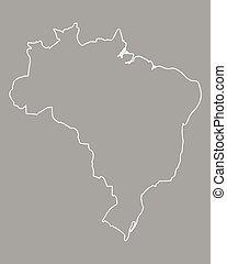 carte, brésil