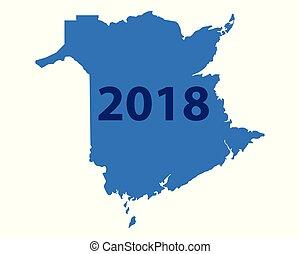 carte, brunswick, 2018, nouveau