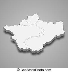 carte, cérémonial, 3d, angleterre, comté, cheshire