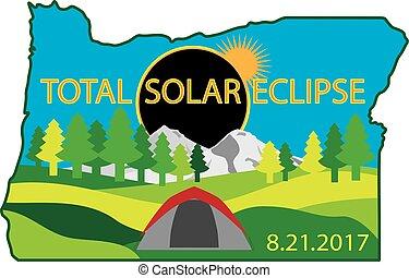 carte, camping, éclipse, solaire, 2017, total, voyage