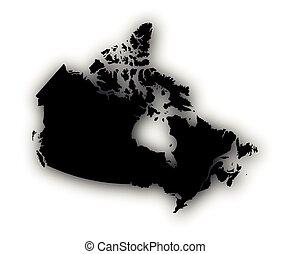 carte canada, ombre