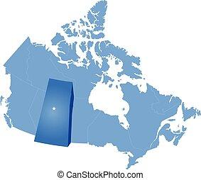 carte canada, -, province, saskatchewan