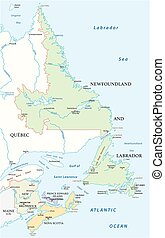 carte canada, provinces, atlantique, quatre