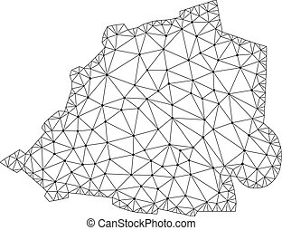 carte, carcasse, maille, polygonal, vecteur, vatican