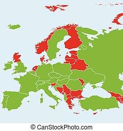carte, championnat, pays, tournoi, football, participer, 2016, final, européen