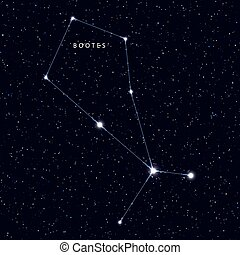 carte, ciel, nom, étoiles, constellations.