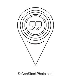 carte, citation, icône, indicateur, signe