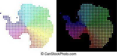carte, clair, pixelated, antarctique
