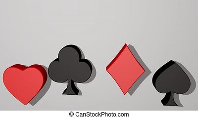 carte, complet, metaphora., business, coeur, diamant,...