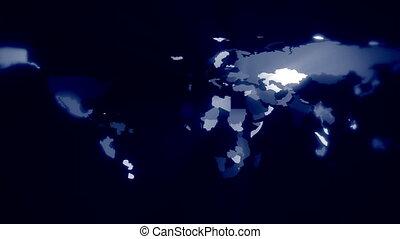 carte, concept, business, global, -, expansion, mondiale, animation