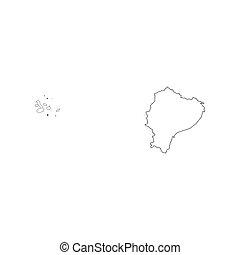 carte, contour, équateur