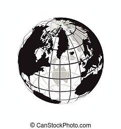 carte, contour, ), (, longitude, latitude, mondiale, autour de