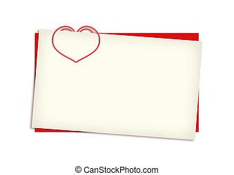 carte, copyspace, valentin