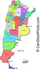 carte couleur, argentine