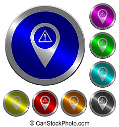 carte, couleur, boutons, avertissement, emplacement,...