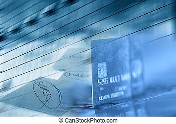 carte, crédit, business, fond