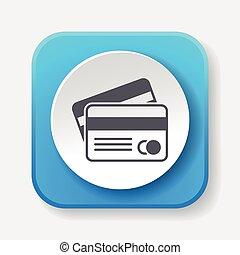 carte, crédit, icône