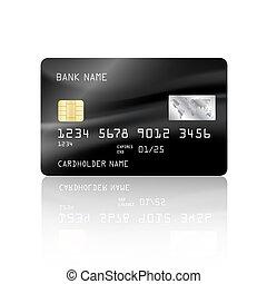 carte, crédit, résumé, maille, coloré, arrière-plan., card., conception, noir, vecteur