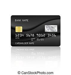 carte, crédit, résumé, maille, fond, conception, noir, vecteur