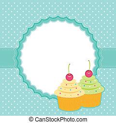 carte, cupcakes.