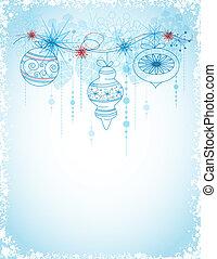 carte, décorations noël