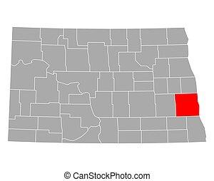 carte, dakota, cass, nord
