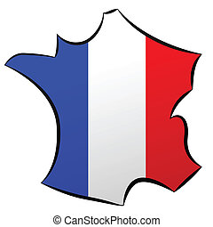 carte , de , γαλλία