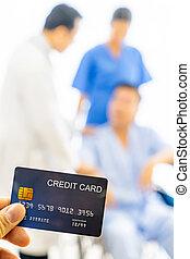 carte de débit, assurance maladie, concept