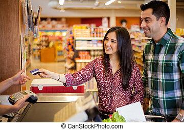 carte de débit, magasin, utilisation