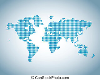 carte, de, monde