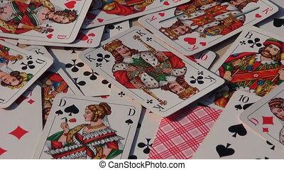 carte, divers, jouer, fond