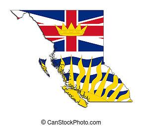 carte, drapeau, colombie, britannique
