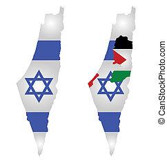 carte, drapeau israël