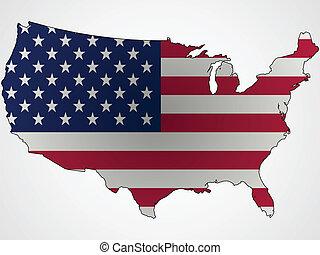 carte, drapeau, résumé, nous