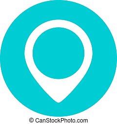 carte, emplacement, marqueur