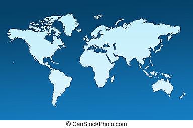 carte, entier, mondiale
