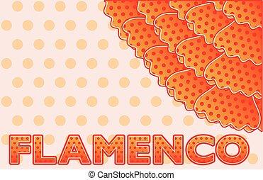 carte, flamenco, fête, salutation