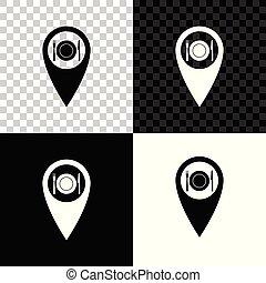 carte, fourchette, restaurant, isolé, illustration, plat, arrière-plan., coutellerie, vecteur, noir, blanc, indicateur, transparent, icône couteau