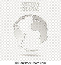carte, globe, gris, technologie, mondiale, conception, transparent