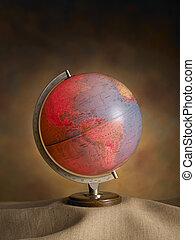 carte, globe, la terre
